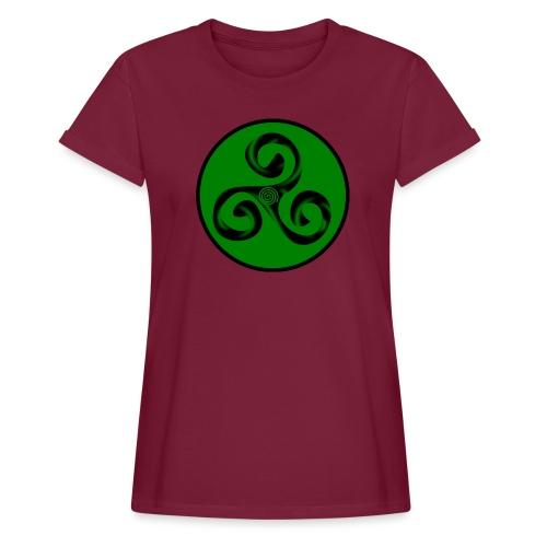 Triskel and Spiral - Camiseta holgada de mujer