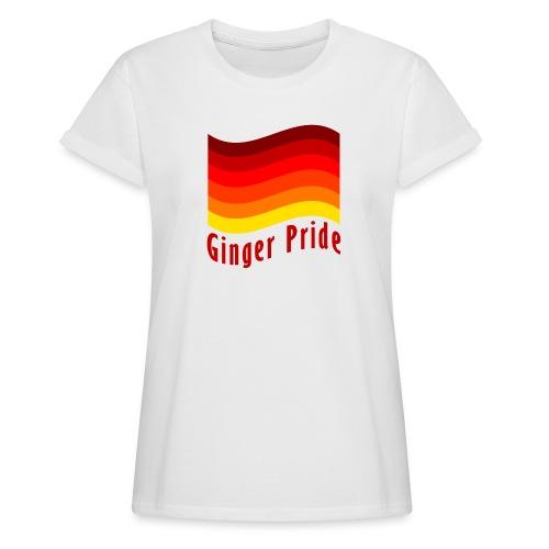 Ginger Pride flag Dark png - Women's Oversize T-Shirt