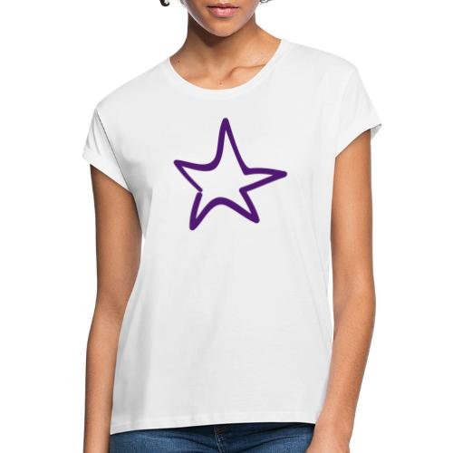 Star Outline Pixellamb - Frauen Oversize T-Shirt