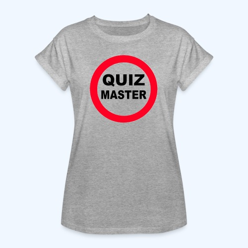 Quiz Master Stop Sign - Women's Oversize T-Shirt