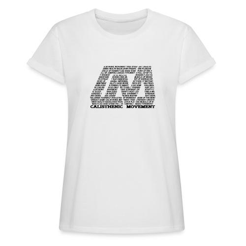 CM Logo aus Text schwarz - Frauen Oversize T-Shirt