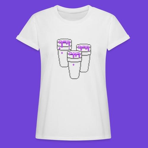 Purple - Maglietta ampia da donna