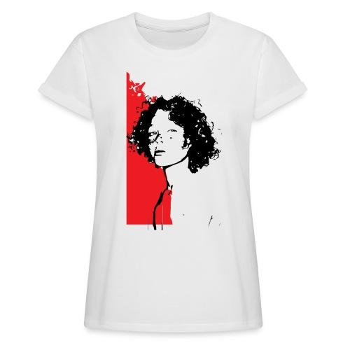 L'enfant rouge représente la terre rouge d'Afrique - T-shirt oversize Femme