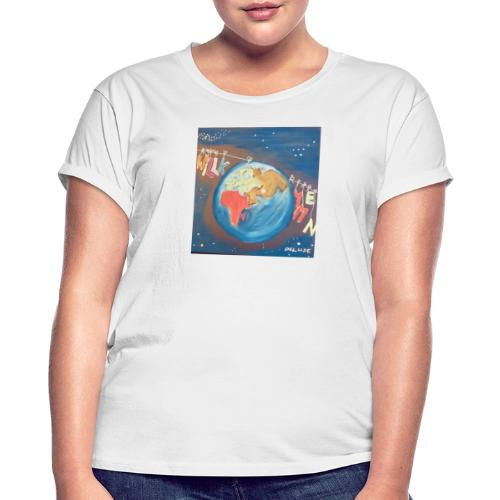 Willkommen - Frauen Oversize T-Shirt