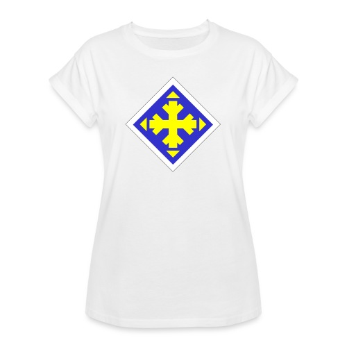 Mäksäreppu, vaalean sininen - Naisten oversized-t-paita