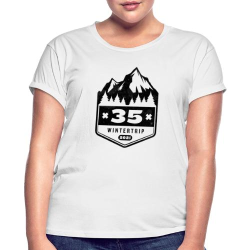 35 ✕ WINTERTRIP ✕ 2021 • BLACK - Vrouwen oversize T-shirt