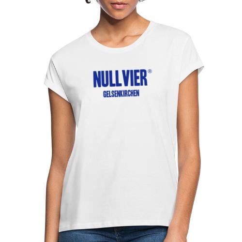 NULLVIER BLUE - Frauen Oversize T-Shirt