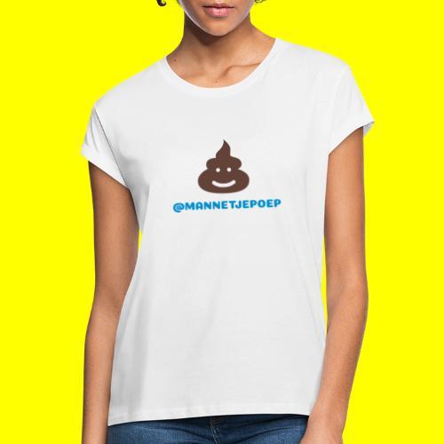 Mannetje Poep Shit - Vrouwen oversize T-shirt
