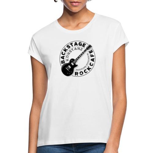 Backstage Logo einfach Schwarz - Frauen Oversize T-Shirt