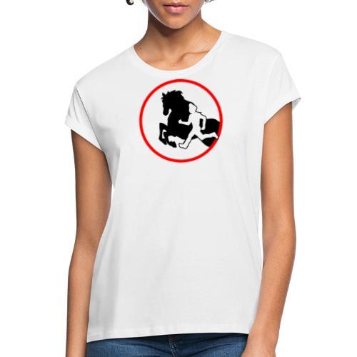 Horse Agility Logo - Frauen Oversize T-Shirt