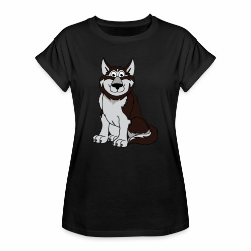Husky - Frauen Oversize T-Shirt