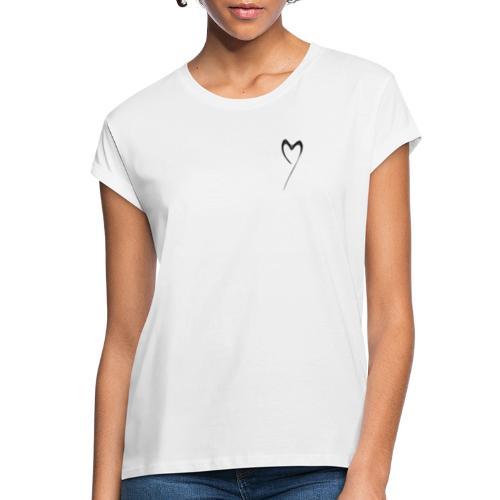 Line Heart - Camiseta holgada de mujer