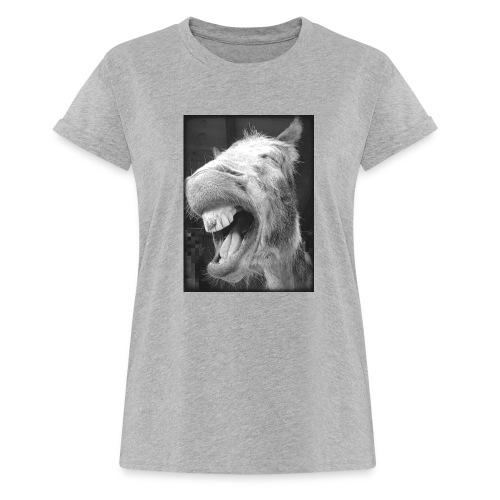 lachender Esel - Frauen Oversize T-Shirt