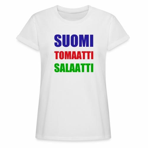 SUOMI SALAATTI tomater - Oversize T-skjorte for kvinner