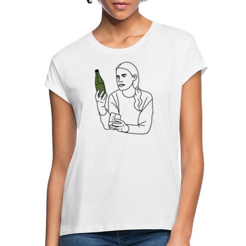Emma (svart) - Oversize-T-shirt dam