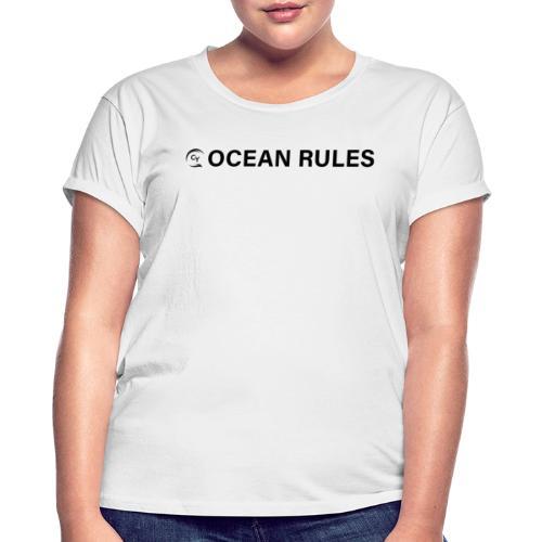 oceanrules black - Frauen Oversize T-Shirt