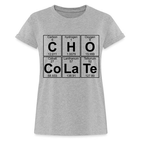 C-H-O-Co-La-Te (chocolate) - Full - Women's Oversize T-Shirt
