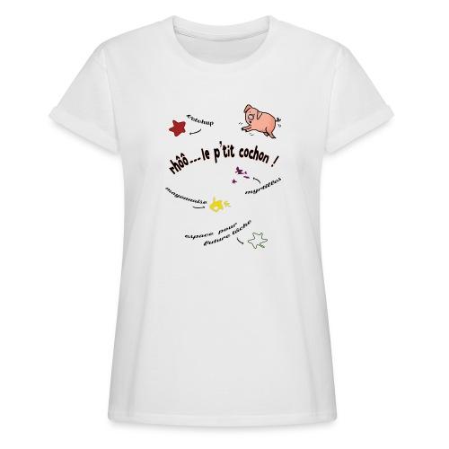 Rhoo le ptit cochon ! (version pour fond blanc) - T-shirt oversize Femme