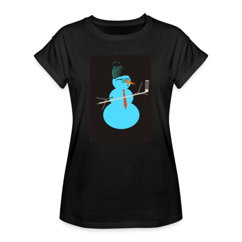 Hockey snowman - Naisten oversized-t-paita