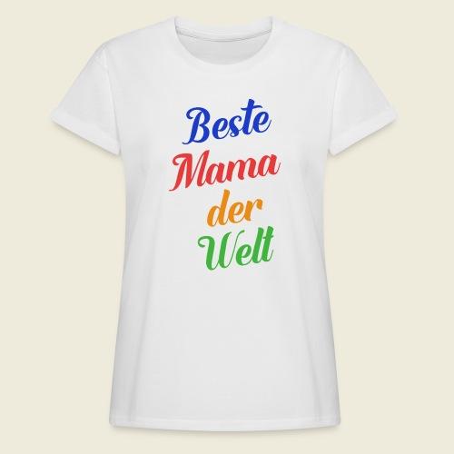 Beste Mama der Welt schön bunt - Frauen Oversize T-Shirt