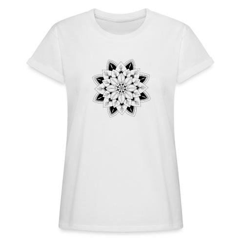 Mandala interior - Camiseta holgada de mujer