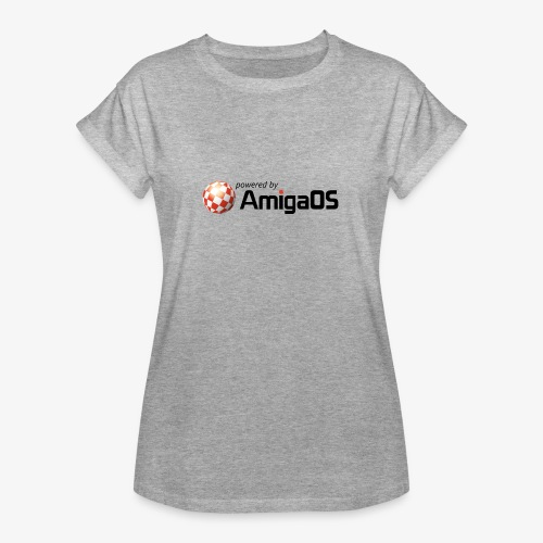 PoweredByAmigaOS Black - Women's Oversize T-Shirt