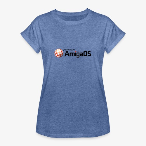 PoweredByAmigaOS Black - Women's Oversize T-Shirt
