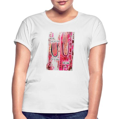 BOOBS print white - Oversize T-skjorte for kvinner