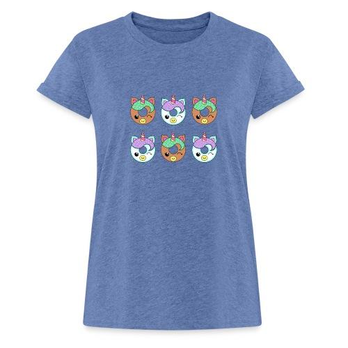 Unicorn Donut - Maglietta ampia da donna