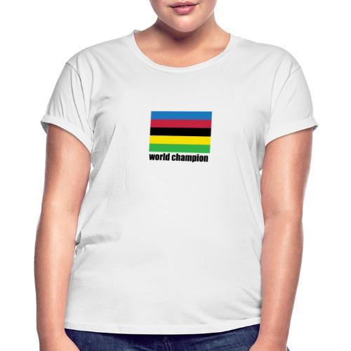 world champion cycling stripes - Vrouwen oversize T-shirt