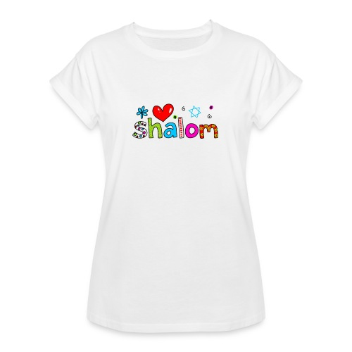 Shalom II - Frauen Oversize T-Shirt