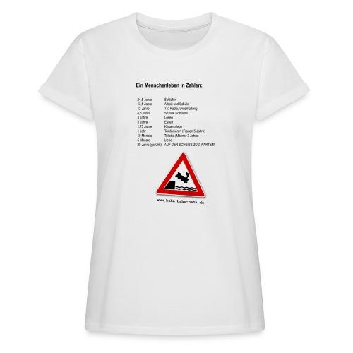 Menschenleben in Zahlen - Frauen Oversize T-Shirt