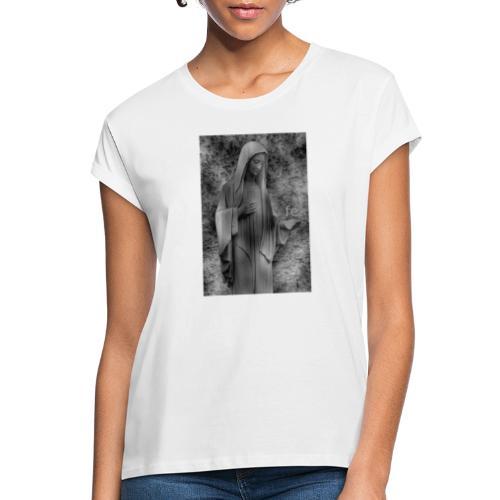 Jungfrau Maria, Medjugorje, schwarz weiß - Frauen Oversize T-Shirt