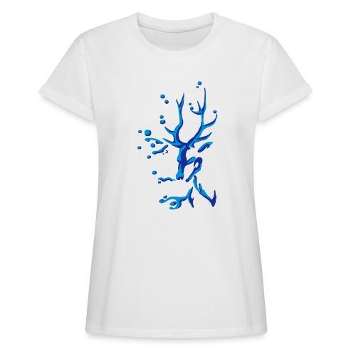 Hirsch - Frauen Oversize T-Shirt