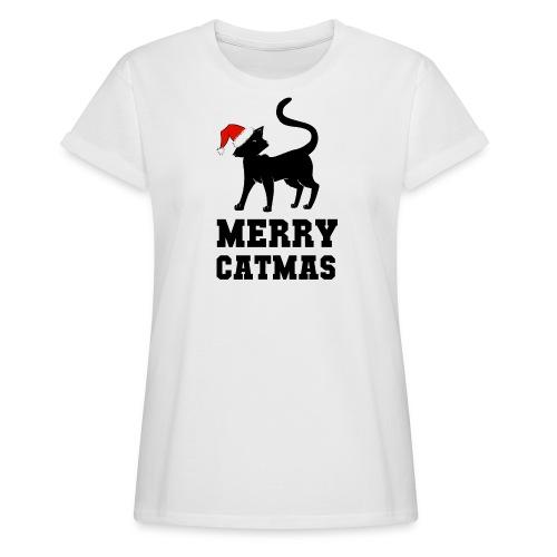 Merry Catmas - Silhouette - Frauen Oversize T-Shirt