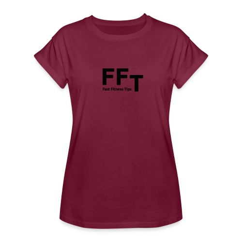 FFT simple logo letters - Women's Oversize T-Shirt