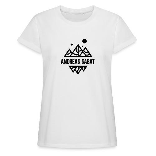 sabat logo black - Dame oversize T-shirt