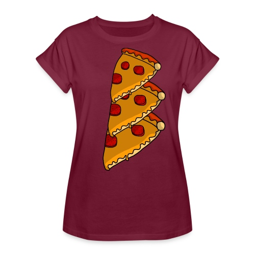 pizza - Dame oversize T-shirt