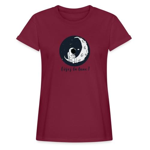 Visez la lune ! - T-shirt oversize Femme