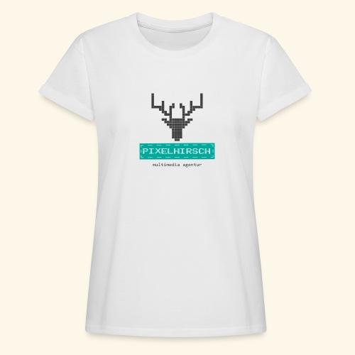 PIXELHIRSCH - Logo - Frauen Oversize T-Shirt