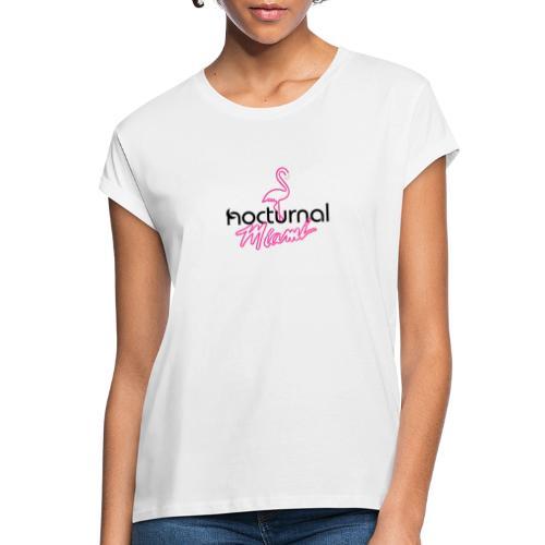 Nocturnal Miami Flamingo black - Women's Oversize T-Shirt