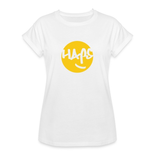 HAPS Yellow Logo - Women's Oversize T-Shirt