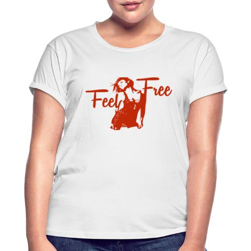 sexy girl feel free hot woman - Frauen Oversize T-Shirt