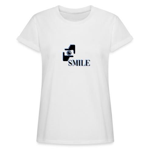 Smile - T-shirt oversize Femme