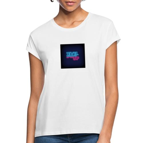 level up neon signboard 118419 1291 - Dame oversize T-shirt