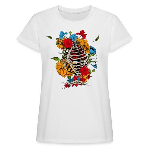 Flowers in my chest - Frauen Oversize T-Shirt