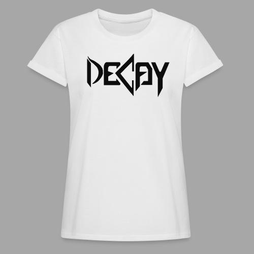 Zwart Logo - Vrouwen oversize T-shirt