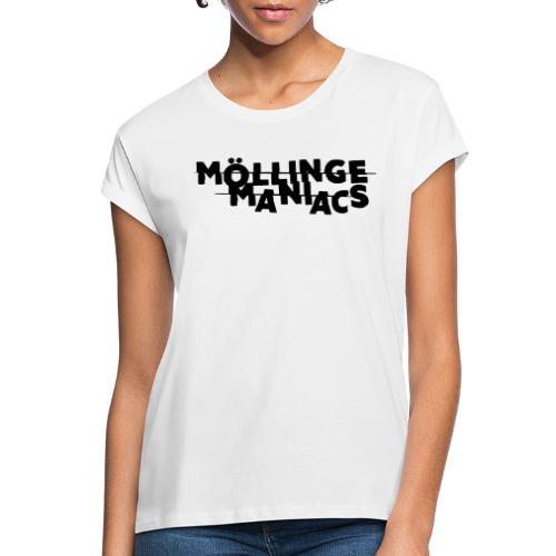 Möllinge Maniacs svart logga - Oversize-T-shirt dam