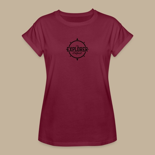 Black TEO Logo - Women's Oversize T-Shirt