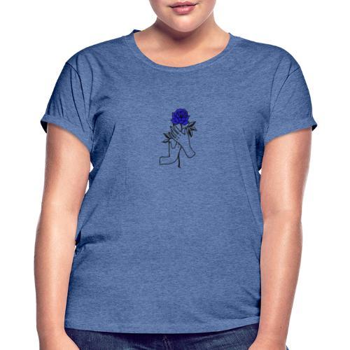 Fiore blu - Maglietta ampia da donna